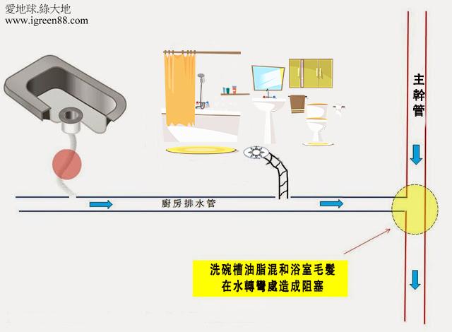 浴室排水管阻塞
